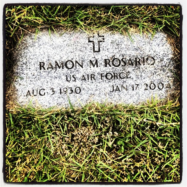 My brother's photo of my dad's grave which I've never been too yet