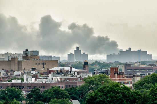 Huge, huge fire in Brooklyn or Queens