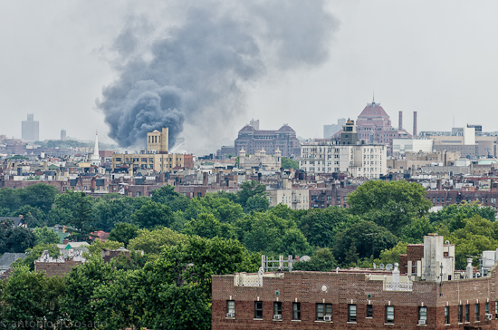 D7000 120726 045 Edit 6 alarm fire now. #FDNY sure has their hands full with this one.