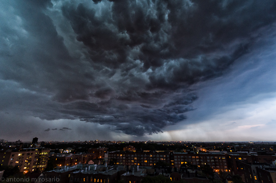 More of tonight's storm
