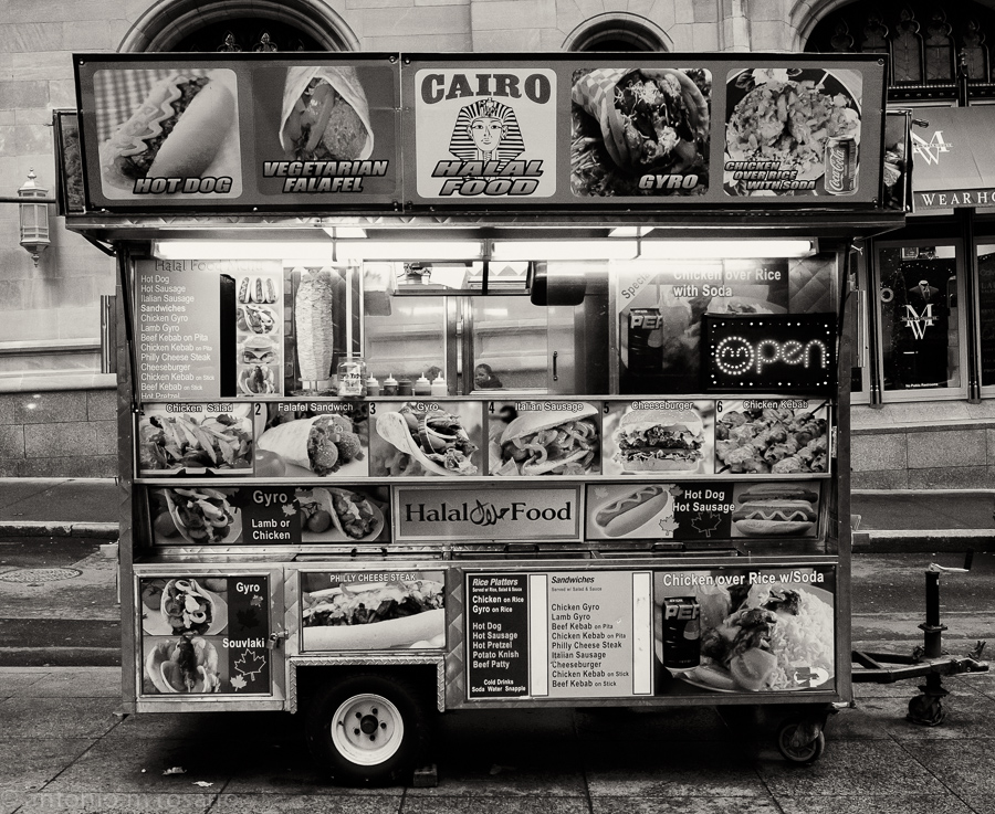 Would you believe the amount of food you can order from a cart like this?