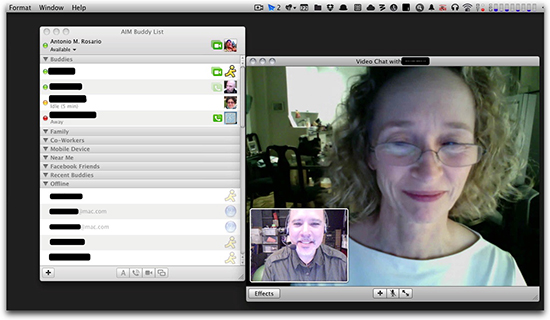 Remote Instruction with iChat/Skype & Square