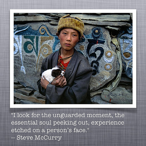 Quote Photo of the day from Steve McCurry