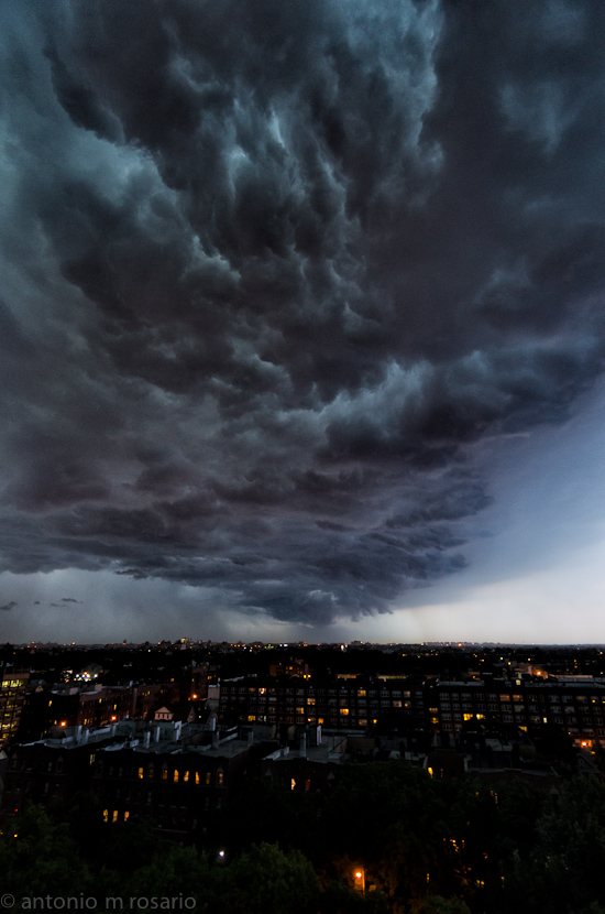 Tonight's Storm – Passing overhead right now. Intense.