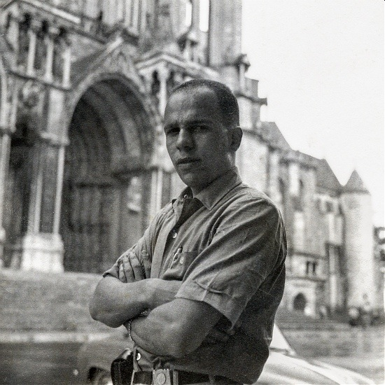 My dad, in #Paris (I think). Can anyone help ID the location?