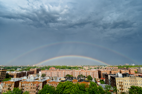 Most perfect double rainbow I've seen in a long time!