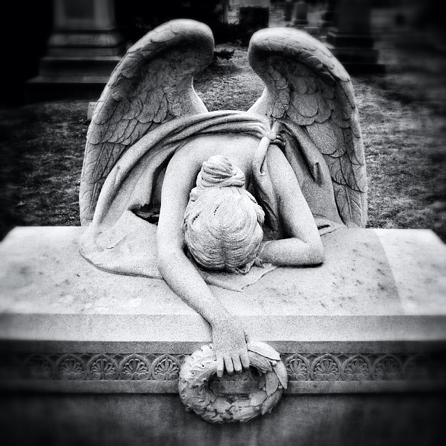 Grieving Angel at Green-Wood