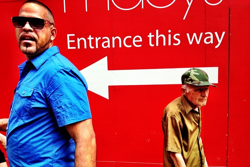 Now Entering The Red Zone #StreetPhotography